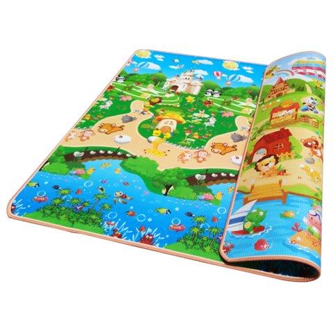 爬行墊嬰兒環保寶寶爬行墊加厚爬爬墊兒童折疊防潮泡沫地墊嬰兒童游戲毯家用