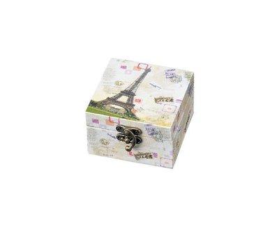 《散步生活雜貨-巴黎散步系列》日本進口 Le timbre 花漾巴黎 艾菲爾鐵塔 復古置物盒S