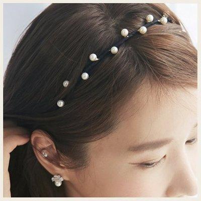 典雅浪漫珍珠髮箍。韓國空運飾品。SS0708!STYLEON!【cghb003】
