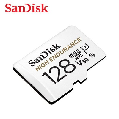 SanDisk HIGH ENDURANCE MicroSD V30 U3 128G記憶卡(SD-SQQNR-128G)