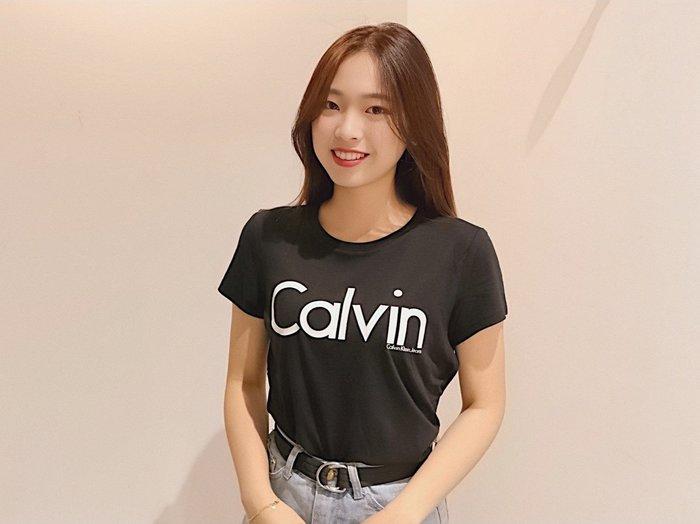 【蟹老闆】Calvin Klein CK 保證真品 LOGO 膠條字體 女生短袖 黑色