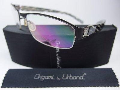 【信義計劃】全新真品 Urband 手工眼鏡 鈦金屬半框 專利彈簧膠腳 可配近視老花第七代全視線變色多焦點抗藍光鏡片