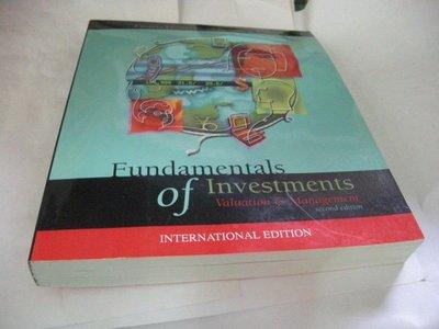 買滿500免運&崇倫舊書坊 Fundamentals of investments : valuation and management有光碟