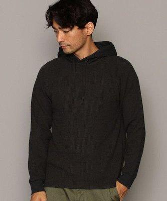 全新日本專櫃正品UNITED ARROWS 黑色編織羅紋窄版連帽T-shirt S號