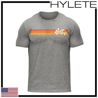 ►瘋狂金剛◄ 低調灰 HYLETE throwback tri-blend crew tee 柔軟 透氣 短袖T恤
