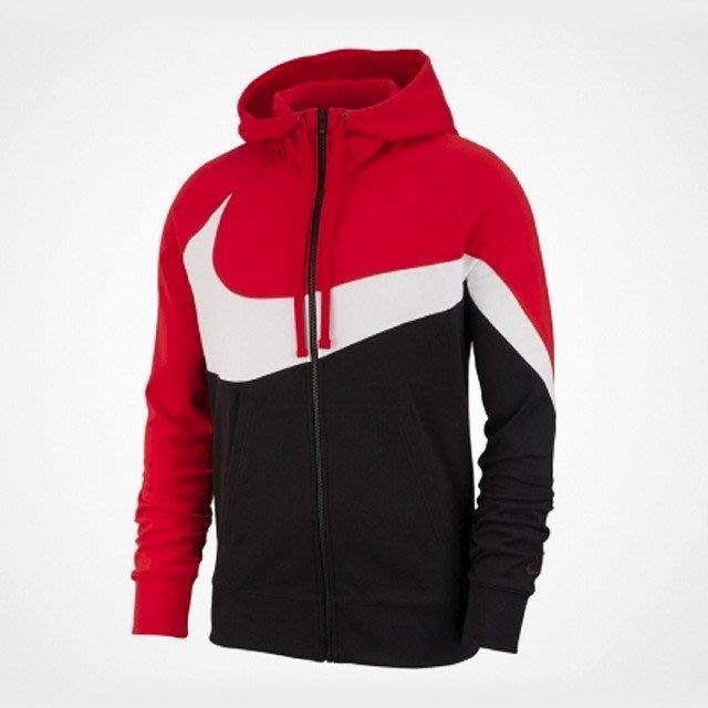 NIKE NSW  大勾勾連帽外套 黑白紅 AR3085-657[EW]