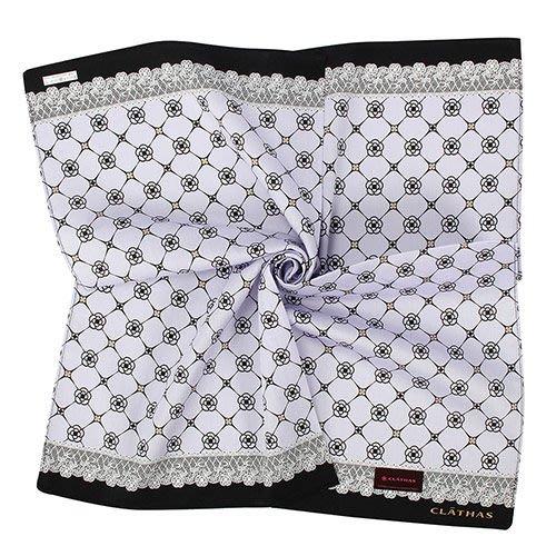【姊只賣真貨】CLATHAS 日本經典山茶花菱格紋純綿領巾手帕(粉紅、粉紫、粉梨)
