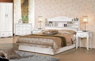 [歐瑞家具] CH119-1 仙朵拉5尺被櫥式雙人床(不含床墊)/大台北地區/系統家具/沙發/床墊/茶几/高低櫃/1元起