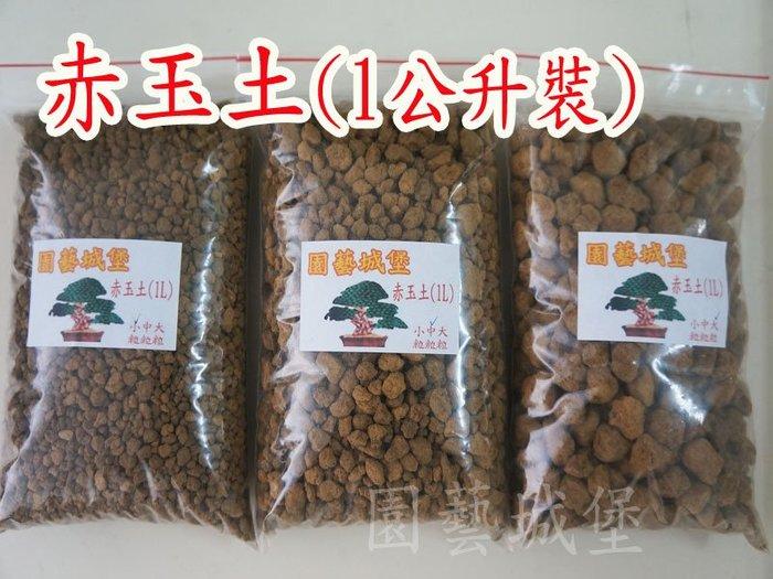 【園藝城堡】赤玉土(1公升分裝)《大粒下標區》日本原裝進口(硬質顆粒土) 松柏盆栽  多肉植物介質