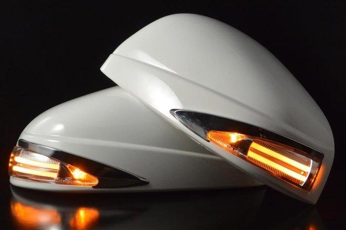 金強車業 LUXGEN納智捷  U6 2014-ON  日行燈 改裝後視鏡殼(亮銀6KT) 雙功能側燈 小燈 方向燈