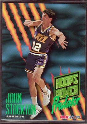 95-96 HOOPS POWER PREDATOR ASSISTS #P8 JOHN STOCKTON