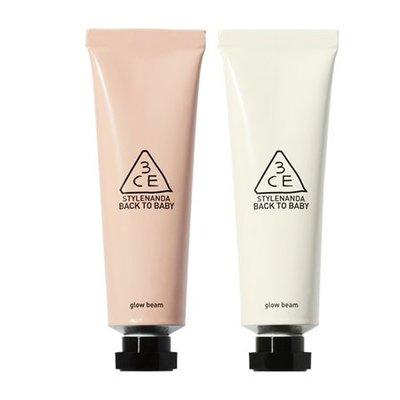現貨【韓Lin連線代購】韓國 3CE - 亮白光澤妝前乳/飾底乳 BACK TO BABY GLOW BEAM