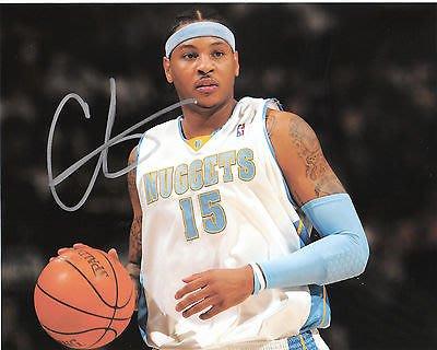 搜索者// Carmelo Anthony Denver Nuggets Autographed Signed 8x10