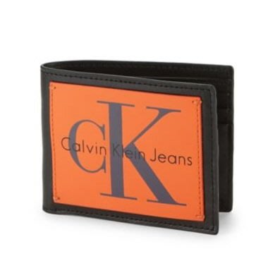Calvin Klein 皮夾 經典 CK 短夾 皮革  大logo 黑色 現貨