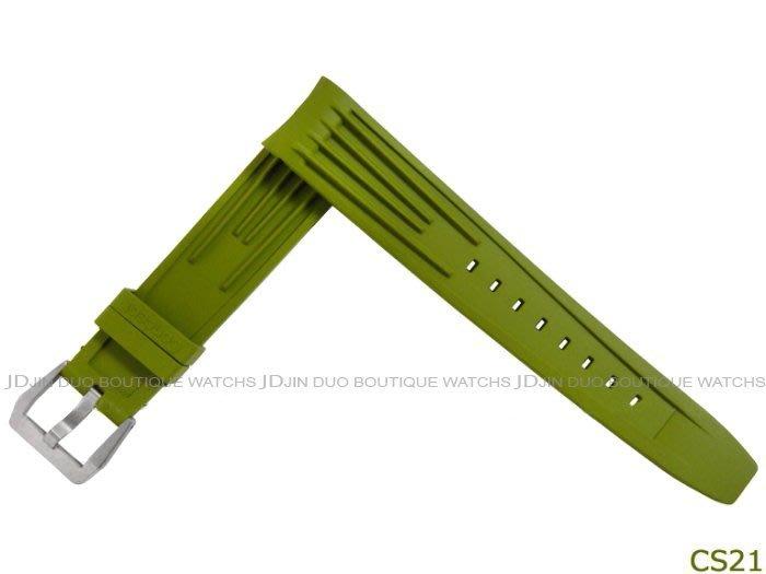 金鐸精品~CS21 Ted Su 勞力士 ROLEX 運動錶款適用綠色橡膠錶帶