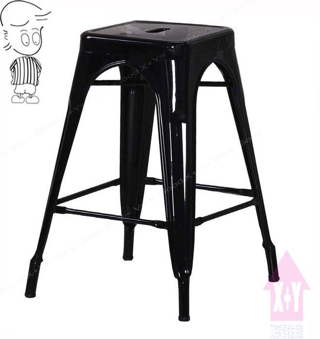 【X+Y時尚精品傢俱】現代吧檯椅系列-哈利 黑色中吧台椅.高腳椅.造型椅.適合餐廳用椅.噴漆防鏽鐵件.摩登家具