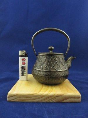 『 已售出 』日本老砂鐵急須 南部 網紋壺形 約300cc 砂鐵壺 (( 日本鐵壺 鐵器 南部鐵器