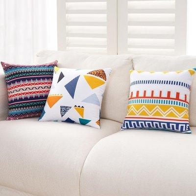 花紋東南亞歐式宜家簡約抱枕腰枕套床頭靠枕汽車沙發靠墊