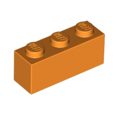 [PolarBrick][零件] Lego Orange Brick 1 x 3 (3622)