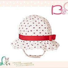 【B& G童裝】正品美國進口GYMBOREE 小紅花圖樣內裡棉遮陽繫帶帽12-18mos