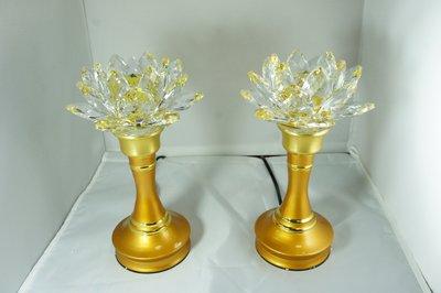水晶蓮花燈8.5吋