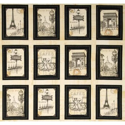 豬豬日本拼布/ windham fabrics夢想的巴黎/棉布材質/一片有二尺(60*110公分)
