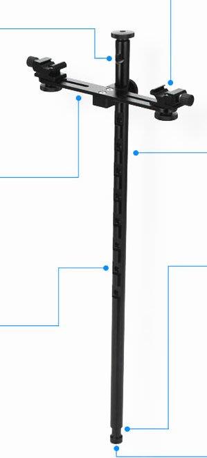 呈現攝影-Selens 雙燈支架延伸臂 長51cm 載重2kg 八角罩 柔光罩 柔光傘 反光傘 離機閃