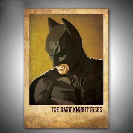 ART。DECO  漫威電影海報掛畫蜘蛛人蝙蝠俠超人掛畫有框無框掛畫裝飾