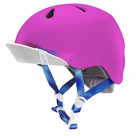 (Bern) 美國兒童自行車安全帽 bern helmet  亮桃