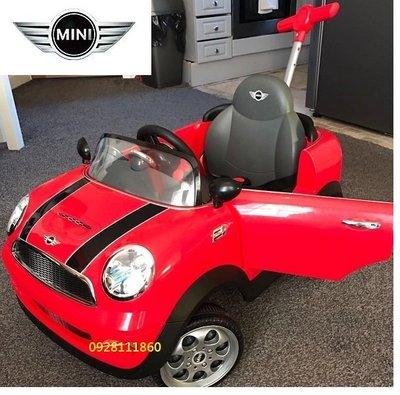 BMW原廠授權Mini Coopers握把四輪後控助步車紅色手推車後推桿Mini Cooper腳行車學步車嚕嚕車玩具車