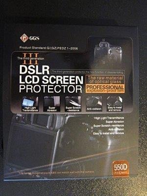 【eWhat億華】GGS 第三代光學材質硬式保護貼 背蓋、 LCD + 觀景窗 雙重保護 550D 專用【2】