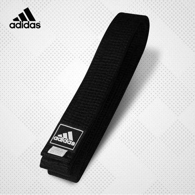 愛迪達窄版雙圈道帶 黑帶 跆拳道 空手道 合氣道 武術 adidas競技運動台灣總代理