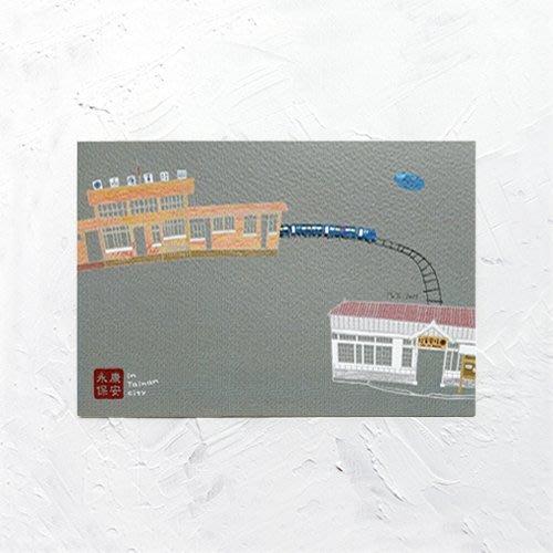 卡片 明信片*畫話臺南-永保安康*不哭鳥
