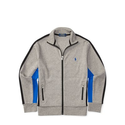 全新美國 Ralph Lauren Polo 灰色繡馬立領運動外套大童S