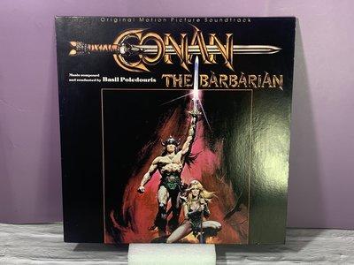 稀有一手珍藏 1982 U.S.A 王者之劍 CONAN THE BARBARIAN【黑膠唱片】全部主題曲 釋出片況如新