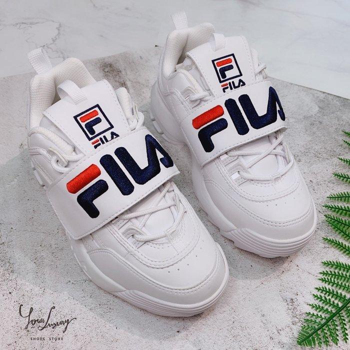 【Luxury】 Fila DISRUPTOR2 魔鬼氈 大LOGO 老爹鞋 厚底鞋 老爹鞋 男女鞋 韓國代購