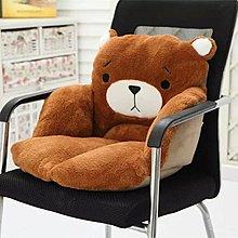 【優上精品】家居萌小熊坐墊 辦公室椅墊餐椅墊 坐墊靠墊連體冬季保暖坐墊(Z-P3203)