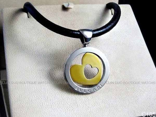 金鐸精品~C185 BVLGARI 寶格麗 TONDO鏤空心形18K黃金&精鋼個性造型 項鍊