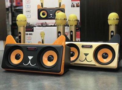 SDRD305廠家無線話筒家用ktv戶外便攜麥克風手機藍牙音響卡拉OK機
