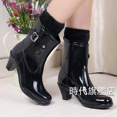 YEAHSHOP 雨鞋女士新品高跟雨鞋女時尚水鞋防水防滑雨靴春夏季水靴膠709092Y185