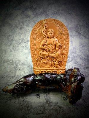 晚霞石 不動明王+樹根座(G14)