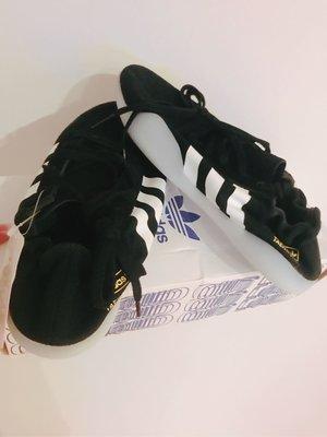 全新 Adidas 黑色 芭蕾舞鞋 休閒鞋 附鞋帶 不含鞋盒