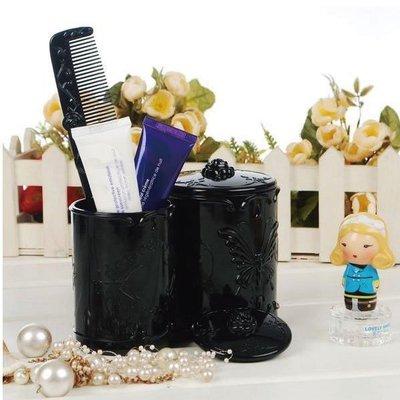復古雕花筆刷桶 刷具桶 化妝收納盒 公主蝴蝶薔薇古典華麗雕花【SA0002】Loxin