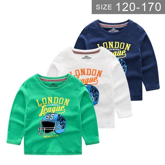 【大童】歐美版男童長袖T恤 。ROUROU童裝。春秋男童中大童純棉印花長袖T恤 上衣 0131-458