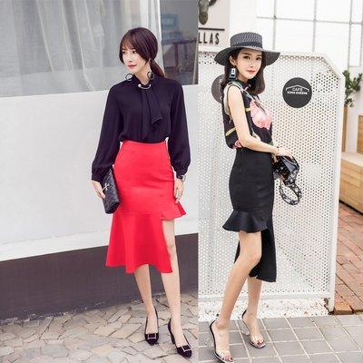 半身裙 連身裙 春夏顯瘦高腰長短魚尾包臀裙職業裙中長款半身裙一步裙女