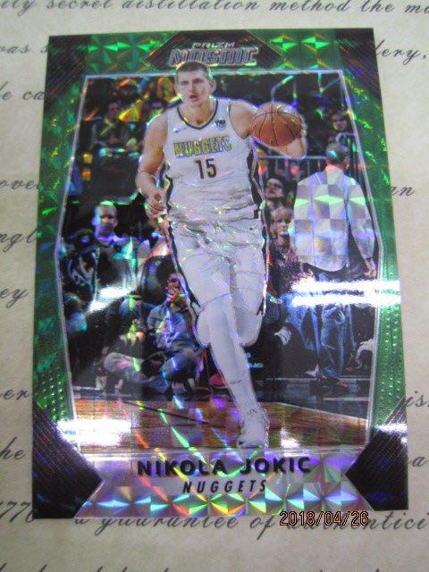 新賣家~17/18~Nikola Jokic~PRIZM~馬賽克~MOSAIC~REF~綠亮~沒限量~30 1元起標