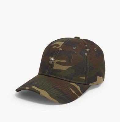 (預購)THE KOOPLES Skull camouflage cotton strapback cap 棒球帽