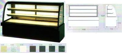 瑞興 5尺彎玻璃蛋糕展示櫃 / 蛋糕冷藏展示櫥 / 營業用蛋糕冷藏展示櫃