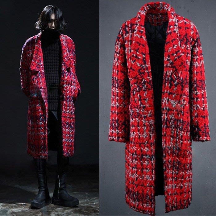 『潮范』 WS10 歐美大牌走秀款潮男保暖棉質立領外套 風衣外套 厚款長大衣NRB2597