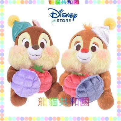 ※龍貓共和國※日本迪士尼商店disney《CHIP&DALE花栗鼠Hello奇奇蒂蒂 生日帽 絨毛娃娃 玩偶》生日禮物